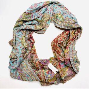 Anthropologie Raj Boho Embroidered Infinity Scarf